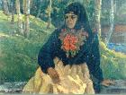 Woman, dressed in russian attire (1993) Vasilij Belikov