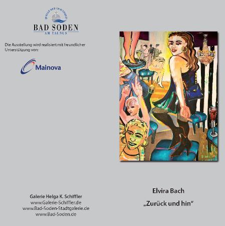 Elvira Bach mit Malerei und Plastiken