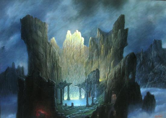 Das innere des Berges